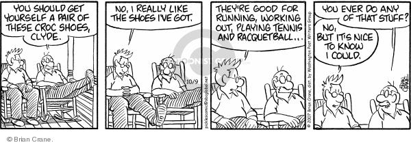 Comic Strip Brian Crane  Pickles 2007-10-09 retiree