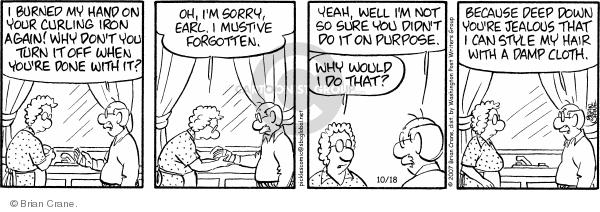 Comic Strip Brian Crane  Pickles 2007-10-18 baldness