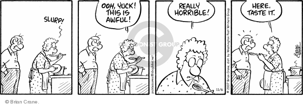 Comic Strip Brian Crane  Pickles 2007-11-06 flavor