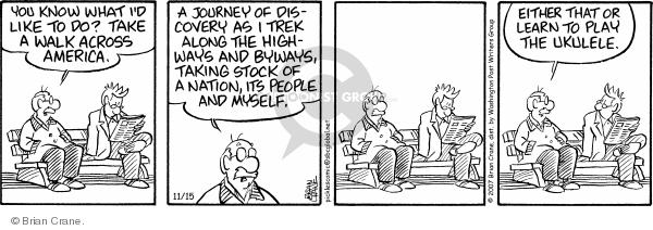 Cartoonist Brian Crane  Pickles 2007-11-15 highway