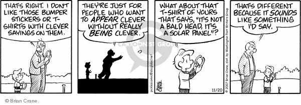 Comic Strip Brian Crane  Pickles 2007-11-20 clever