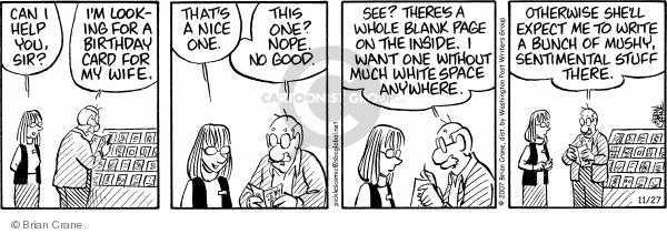 Comic Strip Brian Crane  Pickles 2007-11-27 nope