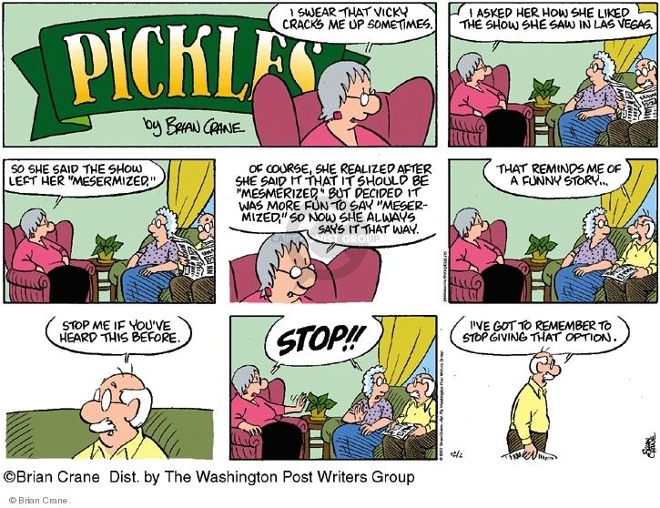 Comic Strip Brian Crane  Pickles 2007-12-02 swear