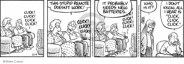 Comic Strip Brian Crane  Pickles 2007-12-04 confusion