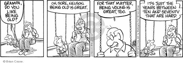 Comic Strip Brian Crane  Pickles 2007-12-07 grandson