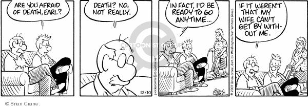 Comic Strip Brian Crane  Pickles 2007-12-10 death