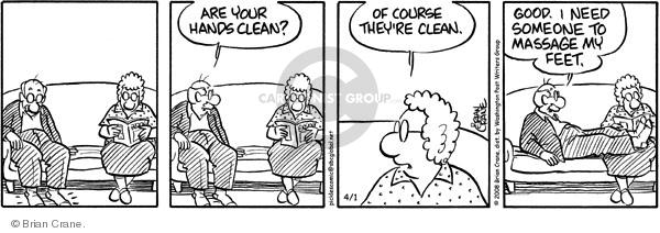 Comic Strip Brian Crane  Pickles 2008-04-01 partner