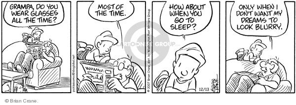 Comic Strip Brian Crane  Pickles 2007-12-13 blurry vision