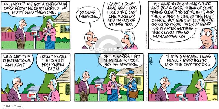 Comic Strip Brian Crane  Pickles 2007-12-16 December