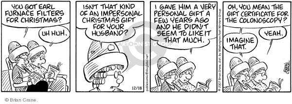 Comic Strip Brian Crane  Pickles 2007-12-18 procedure