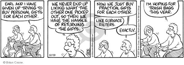 Comic Strip Brian Crane  Pickles 2007-12-19 filter out