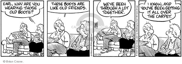 Comic Strip Brian Crane  Pickles 2007-12-20 dirt