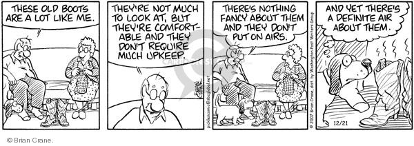Comic Strip Brian Crane  Pickles 2007-12-21 airs