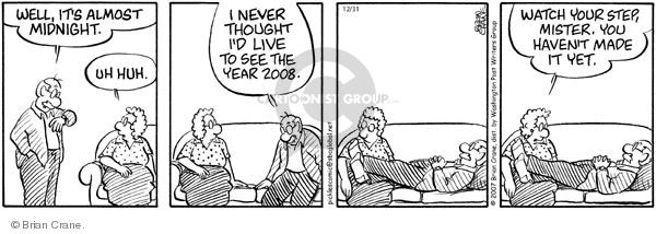 Comic Strip Brian Crane  Pickles 2007-12-31 New Year