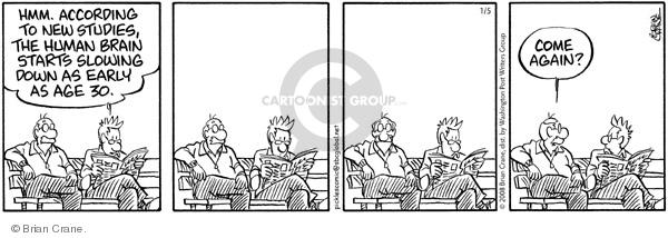 Comic Strip Brian Crane  Pickles 2008-01-05 retiree