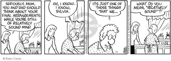 Comic Strip Brian Crane  Pickles 2008-01-08 husband