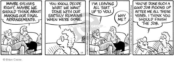 Comic Strip Brian Crane  Pickles 2008-01-09 husband