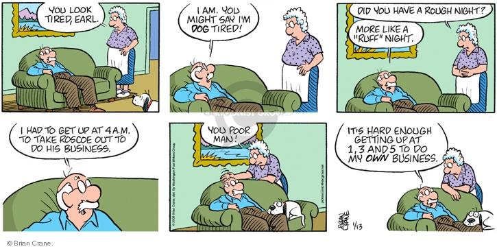Comic Strip Brian Crane  Pickles 2008-01-13 urinate