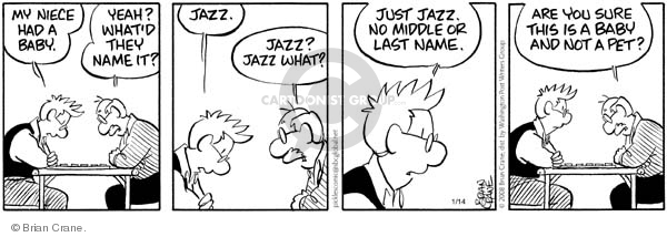 Comic Strip Brian Crane  Pickles 2008-01-14 niece