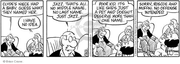 Comic Strip Brian Crane  Pickles 2008-01-16 cat name