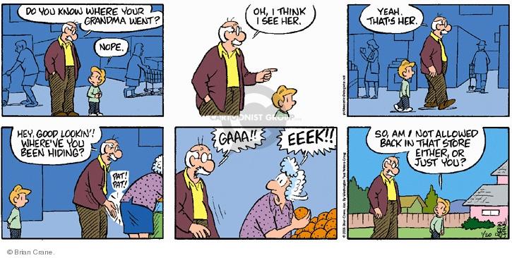 Comic Strip Brian Crane  Pickles 2008-01-20 grocery shop