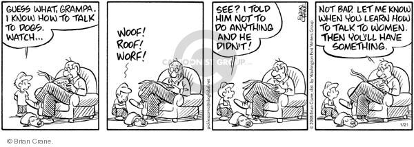 Comic Strip Brian Crane  Pickles 2008-01-21 communication