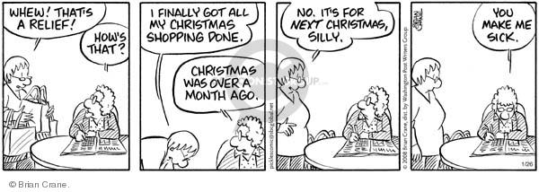 Comic Strip Brian Crane  Pickles 2008-01-26 December