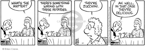 Comic Strip Brian Crane  Pickles 2008-02-01 vegetable