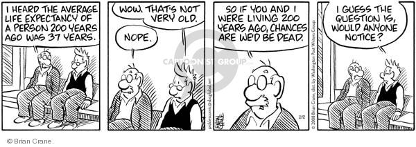Comic Strip Brian Crane  Pickles 2008-02-02 life or death