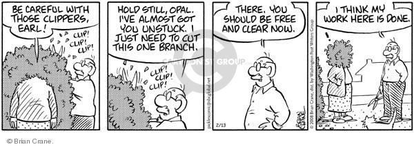 Comic Strip Brian Crane  Pickles 2008-02-13 need help