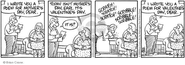 Comic Strip Brian Crane  Pickles 2008-02-14 valentine