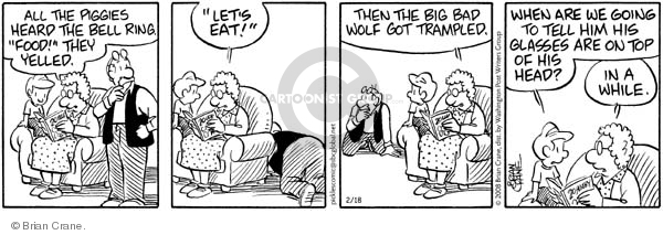 Comic Strip Brian Crane  Pickles 2008-02-18 hear
