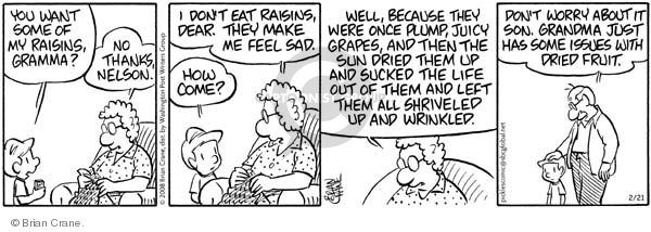 Comic Strip Brian Crane  Pickles 2008-02-21 food health