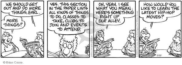 Comic Strip Brian Crane  Pickles 2008-02-22 dance