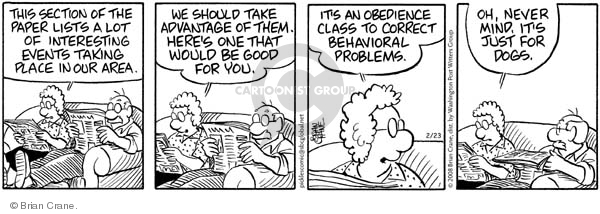 Comic Strip Brian Crane  Pickles 2008-02-23 husband