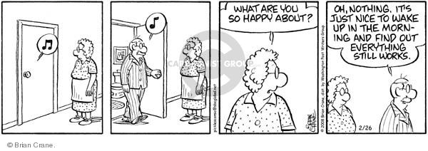 Comic Strip Brian Crane  Pickles 2008-02-26 retiree