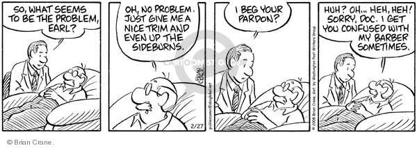 Comic Strip Brian Crane  Pickles 2008-02-27 illness