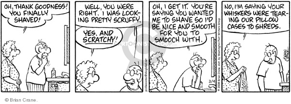 Comic Strip Brian Crane  Pickles 2008-03-04 smooch