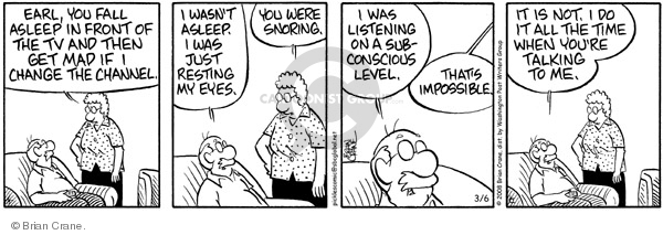 Comic Strip Brian Crane  Pickles 2008-03-06 impossible