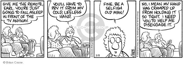 Comic Strip Brian Crane  Pickles 2008-03-08 need help
