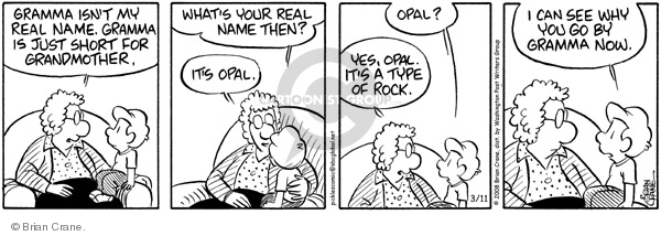 Comic Strip Brian Crane  Pickles 2008-03-11 grandmother