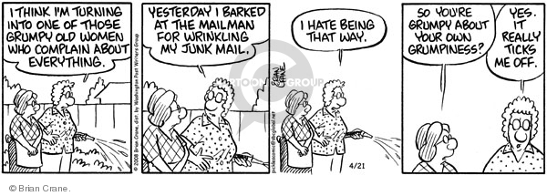 Cartoonist Brian Crane  Pickles 2008-04-21 turn it off