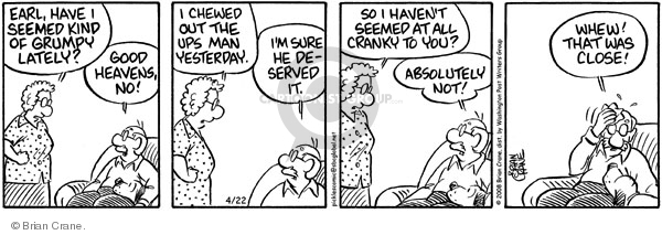 Comic Strip Brian Crane  Pickles 2008-04-22 husband