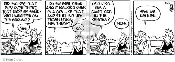 Comic Strip Brian Crane  Pickles 2008-04-26 environment