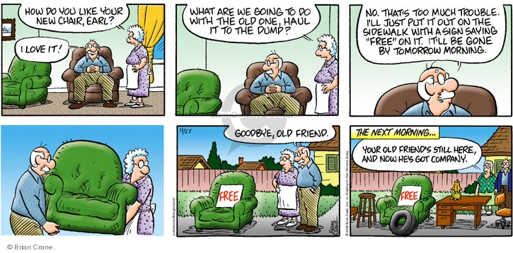Comic Strip Brian Crane  Pickles 2008-04-27 rid