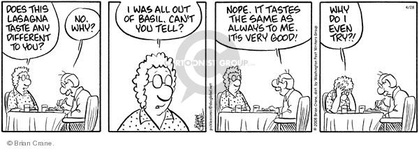 Cartoonist Brian Crane  Pickles 2008-04-28 bake