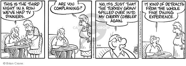 Comic Strip Brian Crane  Pickles 2011-10-22 gravy