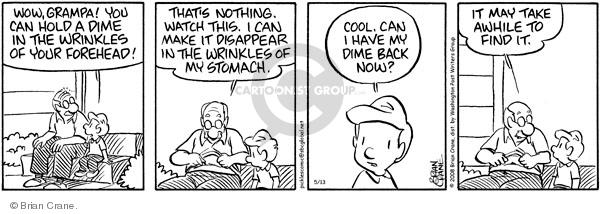 Comic Strip Brian Crane  Pickles 2011-10-25 coin