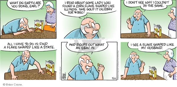 Comic Strip Brian Crane  Pickles 2008-05-18 husband