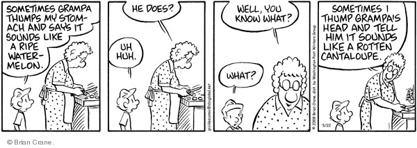 Comic Strip Brian Crane  Pickles 2008-05-22 watermelon